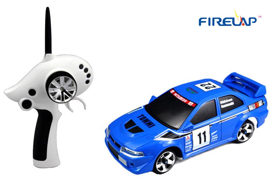 Модель машины на радиоуправлении Firelap 1:28 IW02M-A Mitsubishi EVO 2WD (синий)