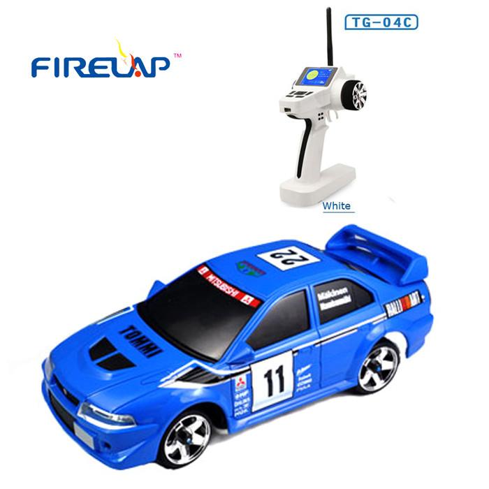 Модель машины на радиоуправлении Firelap 1:28 IW04M Mitsubishi EVO 4WD (синий)