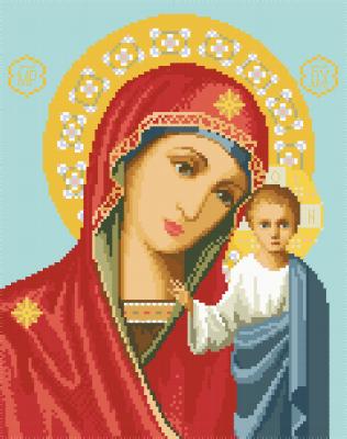 Схема картин для вышивки крестиком на канве Казанская ИКан 3002