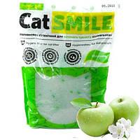 Кэт Смайл Cat Smile силикагелевый наполнитель для кошачьего туалета с ароматом яблока 3,6  литров