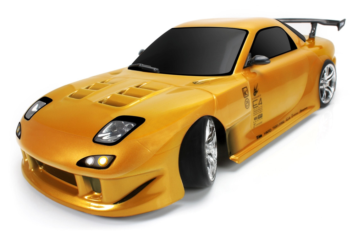 Машина на радиоуправлении Дрифт 1:10 Team Magic E4D Mazda RX-7 (золотой)