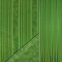 Сатин портьерный зеленый в темно зеленые полосы ш.148 (38537.001)