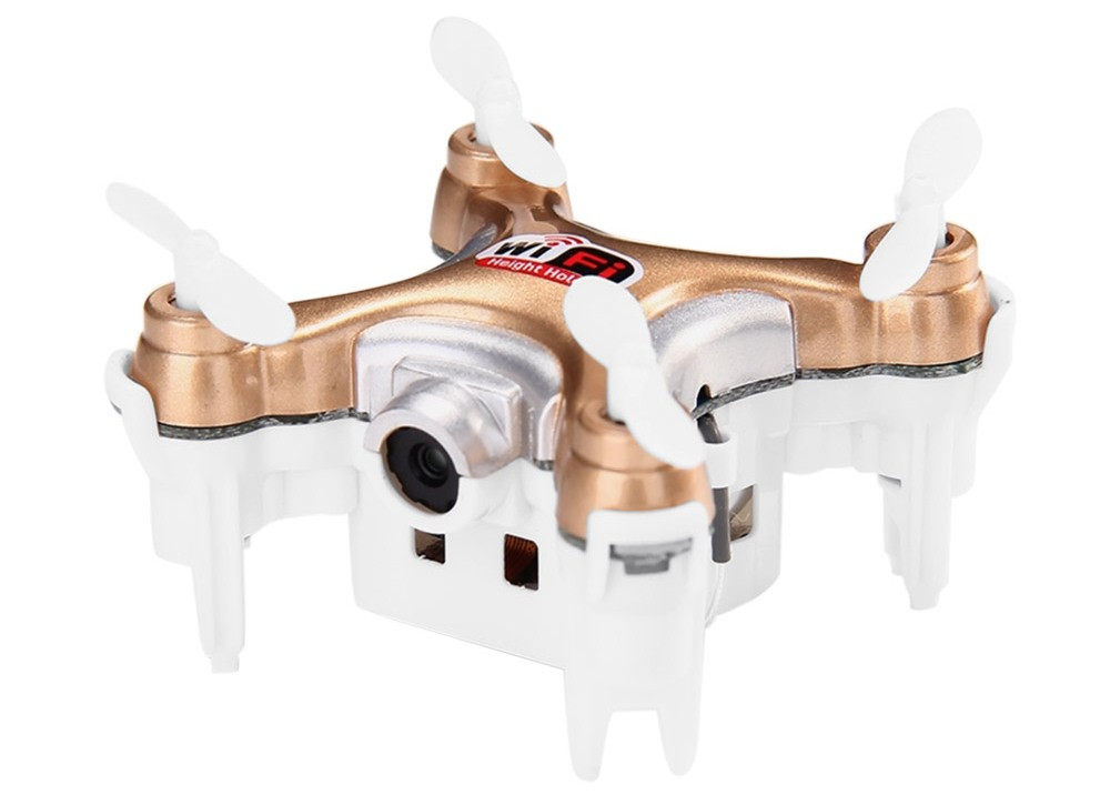 Квадрокоптер дрон мини с камерой  Cheerson CX-10WD-TX (бежевый)
