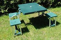 Раскладной стол для пикника, кемпинга, семейного отдыха на природе, 4 стула, компактно складывается, 85,5*65см