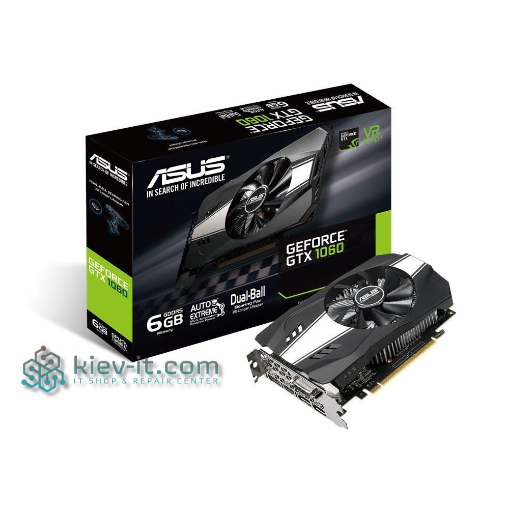 "Видеокарта Asus GTX 1060 Phoenix 6GB GDDR5 192bit (PH-GTX1060-6G) ""Over-Stock"" Б/У"
