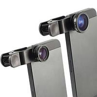 Макро объектив линза для смартфона и планшета Fisheye + Макро + Широкоформат