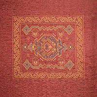 Шенилл подушечный с орнаментом красный ш.140 (39012.001)