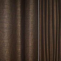 Рогожка CADIZ чорно-коричнева з відблисками ш.140 (39014.002)