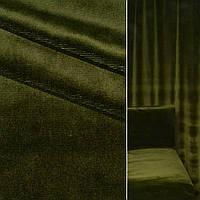 Велюр с вискозой мебельный зеленый темный, ш.140 (39034.004)