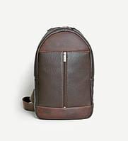 """Рюкзак кожаный для ноутбука коричневый 13""""  BP1 (12-32)"""