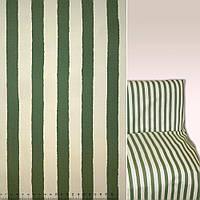 Коттон в полоску зеленая и кремовая ш.144 (39050.005)