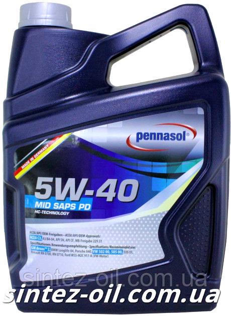 Масло моторное PENNASOL MID SAPS PD 5W-40 (5л)