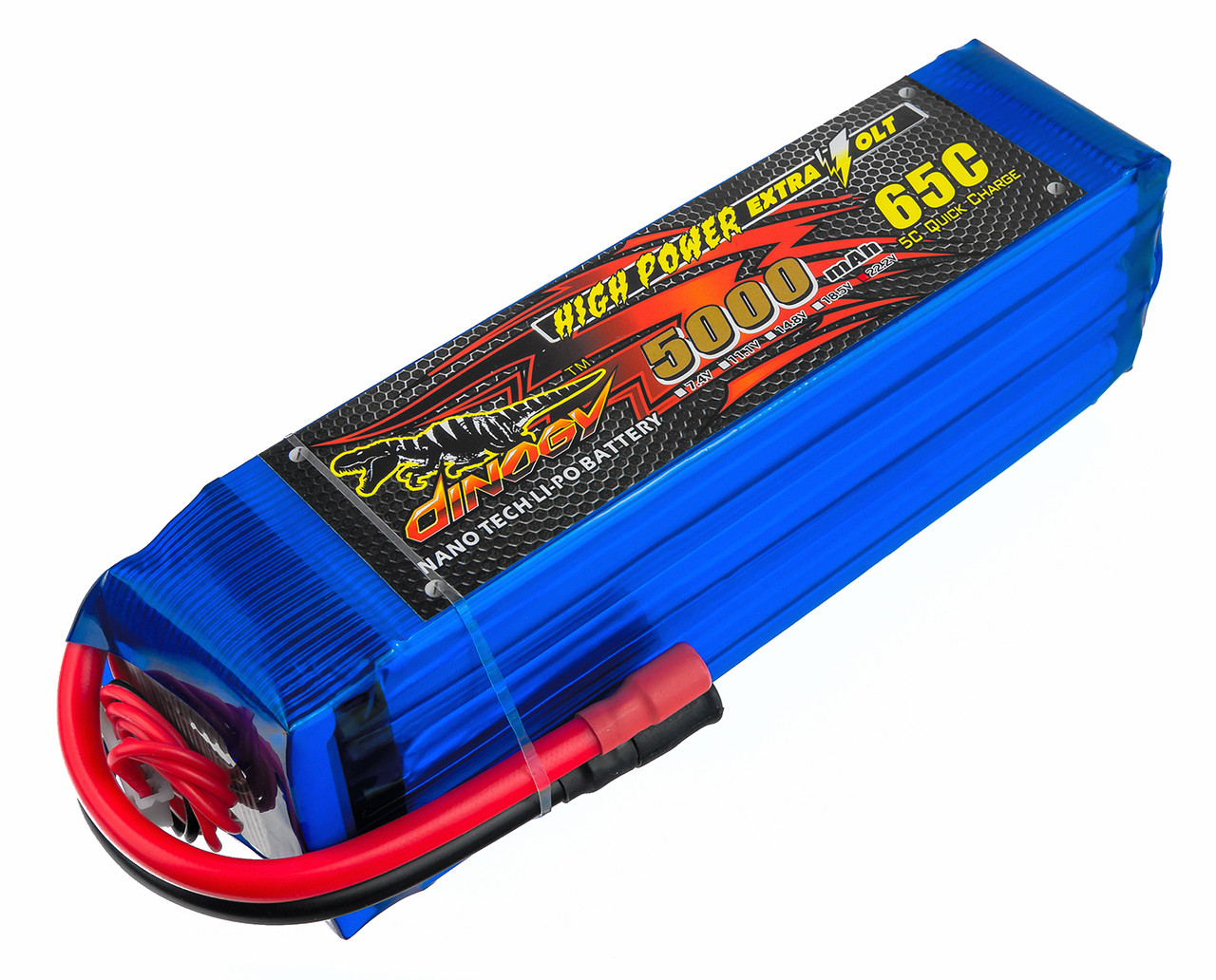 Аккумулятор Dinogy Li-Pol 5000mAh 22.2V 6S 65C 51x46x165мм Bullet 6mm