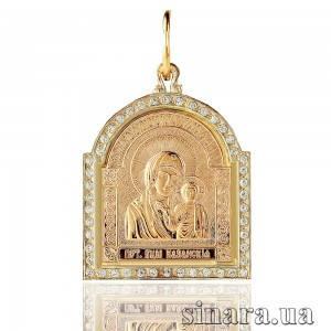 Золотая ладанка Божия Матерь Казанская 6779
