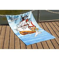 Полотенце Lotus пляжное - Sailboat 75*150 велюр (2000022070775)