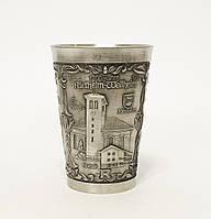 Старый оловянный бокал для вина, шнапса, Германия, пищевое олово, 150 мл, фото 1