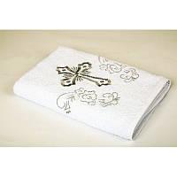 Крыжма Lotus вышивка - Белый с серебром 70*140 (16/1) 400 г/м² (6940056109255)