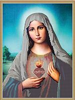 Схема для вышивки бисером Святое Сердце Марии КМИ 3029