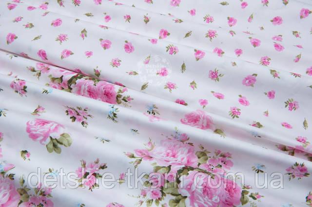 сатиновая ткань с цветочным принтом