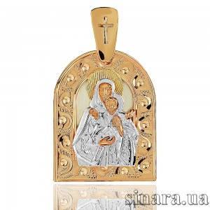 Золотая ладанка Божия матерь Леушинская Похвала Богородицы 2623