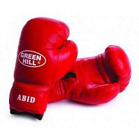 Перчатки боксерские ABID Green Hill 12 унций красные