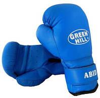 Перчатки боксерские ABID Green Hill 12 унций синие