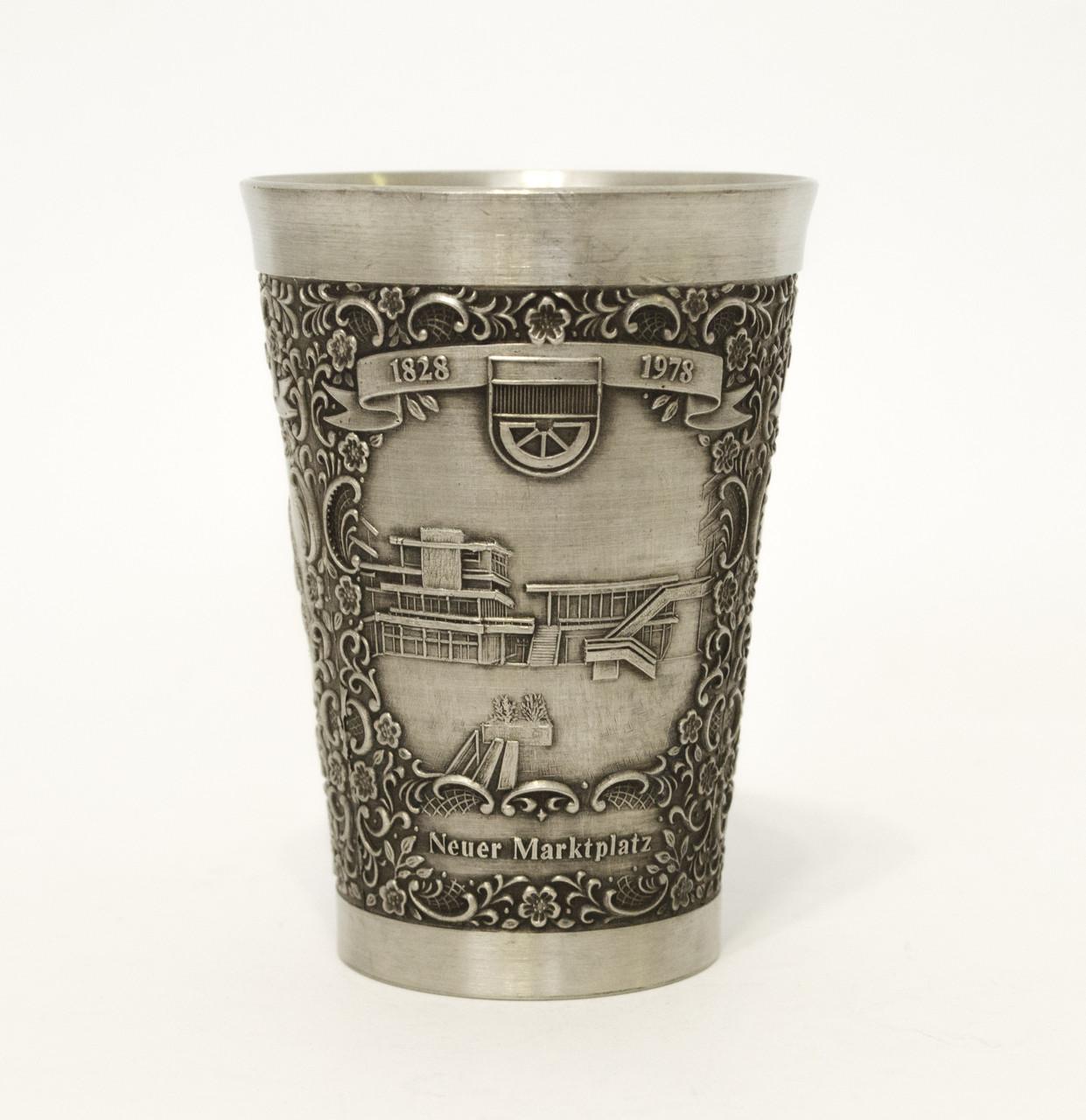 Коллекционный оловянный бокал, олово, Германия, 150 мл