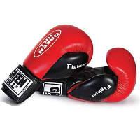 Перчатки боксерские Fighter Green Hill 10 oz красные