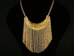 Ожерелье желтый металл