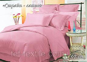 Постельное белье ТЕТ Страйп сатин розовый (евро)