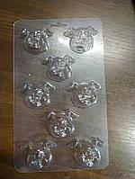 Пластиковая форма для шоколада Свинки