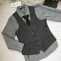 Набор Рубашка+галстук+ жилет на мальчика 4-5 лет