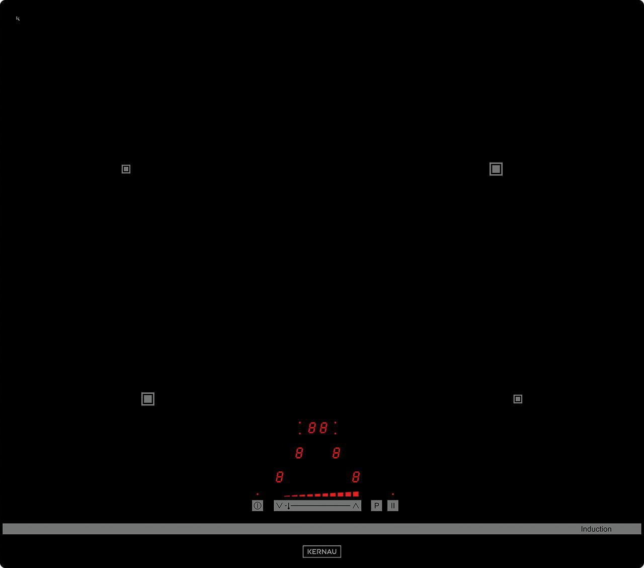 Варочная индукционная независимая панель Kernau KIH 6414.1-4B