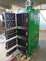Котел твердотопливный, жаротрубный 50кВт с возможностью установки пеллетной горелки