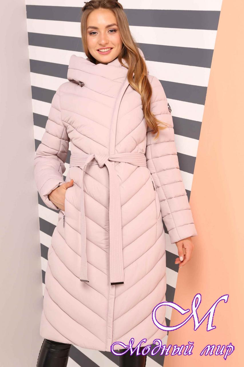 719170c88f7bdc Женское теплое зимнее пальто большие размеры (р. 44-60) арт. Фелиция пудра