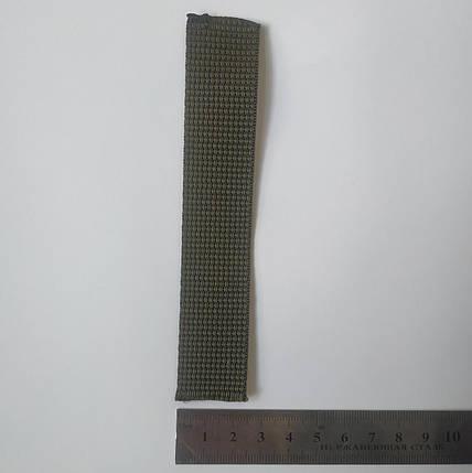 Лента ременная (тесьма, лямовка) 25мм Оливковая, фото 2