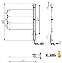 Полотенцесушитель электрический MARIO Веер HP-I 600x445 поворотный, фото 3