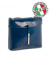 Итальянская кожаная сумка для женских мелочей Vera Pelle  синий