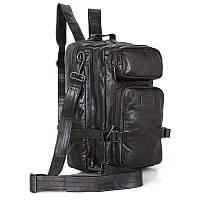 Рюкзак кожаный Vintage 14149 черный