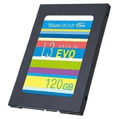 """Твердотільний накопичувач SSD Team 120 GB L3 EVO 2,5"""" SATA III TLC (T253LE120GTC101) універсальний для ПК"""