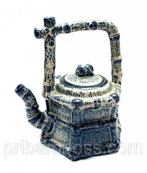 """Чайник керамический """"Домик из бамбука"""" 14,5*13*10см."""