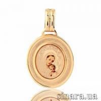 Золотая ладанка Божия матерь с младенцем 18053