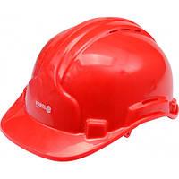 Каска для защиты головы VOREL красная, V-74191