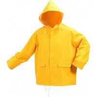 Куртка с капюшоном водонепроницаемая желтая VOREL, размер XXL, V-74627