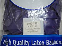 """Воздушные шары Belbal пастель 12""""(30 см) экстра лиловый 50 шт, фото 1"""
