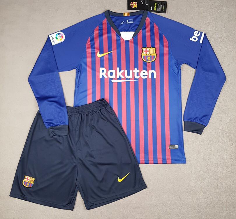 Футбольная форма Барселона с длинным рукавом (сезон 2018-2019) гранатовая