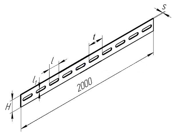 Перфорированная стальная полоса К106