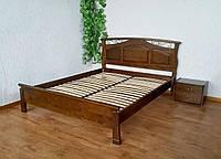 """Кровать """"Марго"""" (190/200*160). Массив дерева - береза. Покрытие - """"лесной орех"""" (№ 44)"""