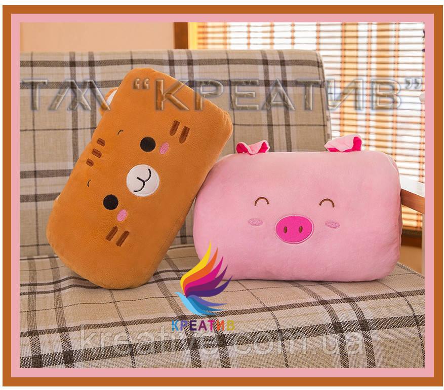 Сувенирный подарок флисовая подушка игрушка с вашим логотипом под заказ (от 50 шт.)