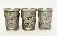 Три коллекционных оловянных бокала, пищевое олово, Германия, охота, фото 1